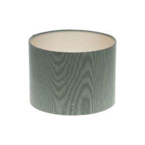 Dark Grey Drum Lampshade Champagne Inner