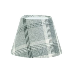 Balmoral Dove Grey Tartan Empire Lampshade
