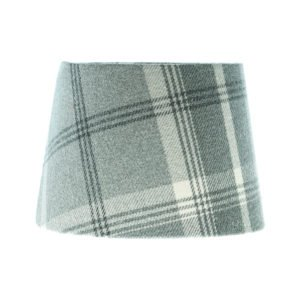 Balmoral Dove Grey Tartan French Drum Lampshade