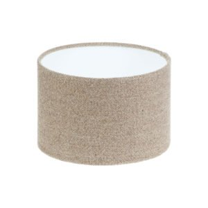 Beige Herringbone Tweed Drum Lampshade