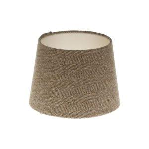 Beige Herringbone Tweed French Drum Lampshade Champagne Inner