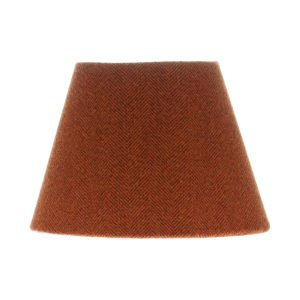 Rust Herringbone Tweed Empire Lampshade