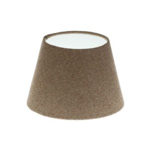 Beige Herringbone Tweed Empire Lampshade