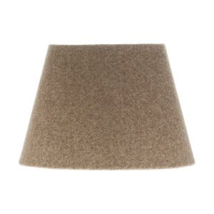Beige Herringbone Tweed Empire Lampshade