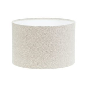Cream Herringbone Tweed Drum Lampshade