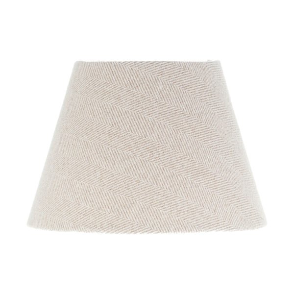 Cream Herringbone Tweed Empire Lampshade
