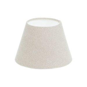 Cream Herringbone Tweed Empire Lampshade