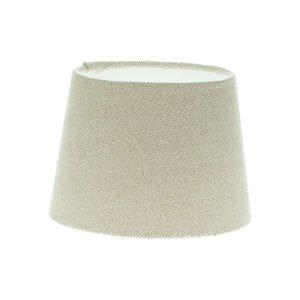 Cream Herringbone Tweed French Drum Lampshade