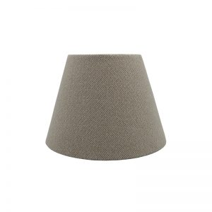 Cream Herringbone Empire Lampshade