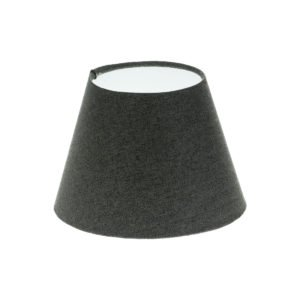 Dark Grey Herringbone Tweed Empire Lampshade