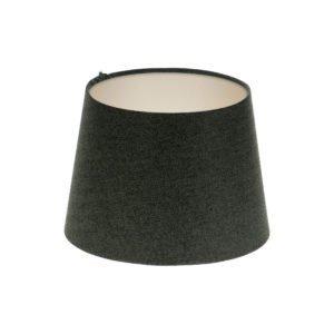Dark Grey Herringbone Tweed French Drum Lampshade Champagne Inner