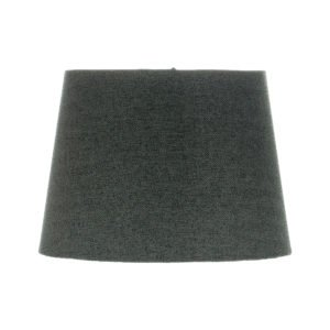Dark Grey Herringbone Tweed French Drum Lampshade