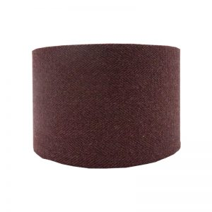 Heather Herringbone Tweed Drum Lampshade