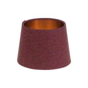 Heather Herringbone Tweed French Drum Lampshade Brushed Copper Inner