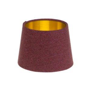 Heather Herringbone Tweed French Drum Lampshade Brushed Gold Inner