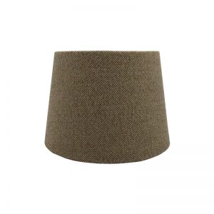 Beige Herringbone Tweed French Drum Lampshade