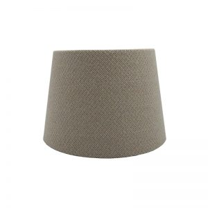Cream Herringbone Tweed French Drum Lampshade