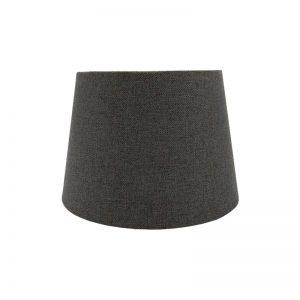 Dark Grey Herringbone Tweed French Drum Lampshade