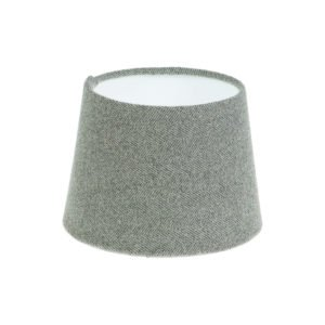 Light Grey Herringbone Tweed French Drum Lampshade