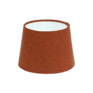 Rust Herringbone Tweed French Drum Lampshade