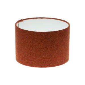 Rust Herringbone Tweed Drum Lampshade