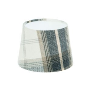 Balmoral Charcoal French Drum Lampshade