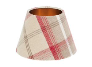 Balmoral Cranberry Empire Lampshade Brushed Copper Inner