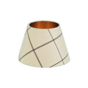 Winsford Cream Tartan Empire Lampshade Brushed Copper Inner