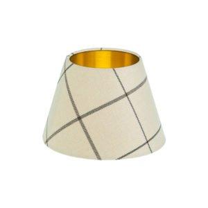 Winsford Cream Tartan Empire Lampshade Brushed Gold Inner