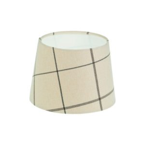 Winsford Cream Tartan French Drum Lampshade