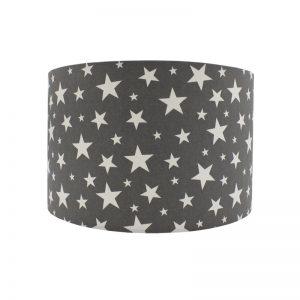 Grey Stars Drum Lampshade