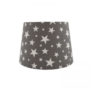 Grey Stars French Drum Lampshade