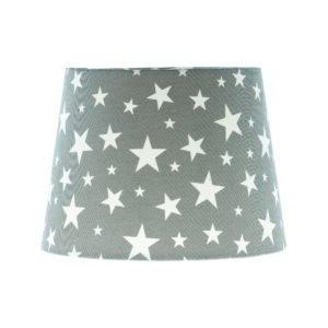 Grey Stars French Drum Lampshade