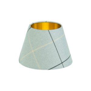 Winsford Grey Tartan Empire Lampshade Brushed Gold Inner