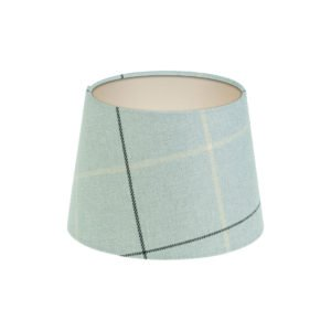 Winsford Grey Tartan French Drum Lampshade Champagne Inner