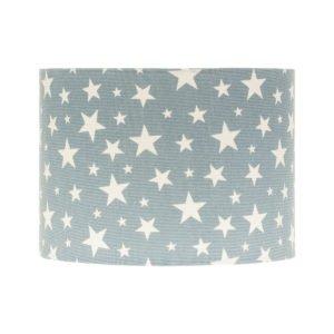 Light Blue Stars Drum Lampshade