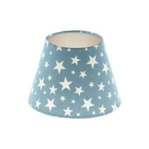 Light Blue Stars Empire Lampshade Champagne Inner