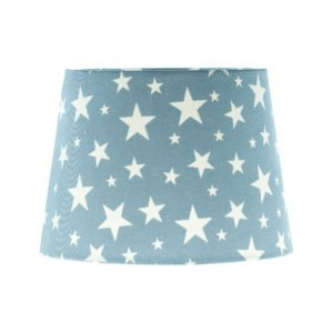 Light Blue Stars French Drum Lampshade
