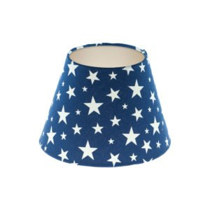 Navy Blue Stars Empire Lampshade Champagne Inner