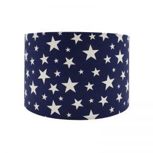 Navy Blue Stars Drum Lampshade