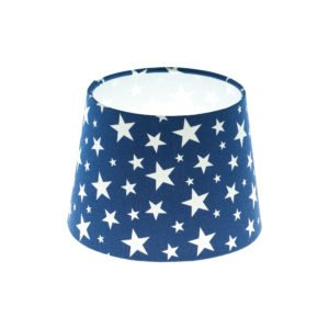 Navy Blue Stars French Drum Lampshade