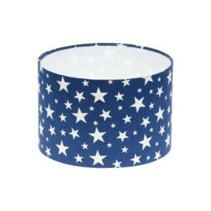 Navy Blue Stars Drum Lampshade