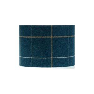 Winsford Navy Blue Tartan Drum Lampshade
