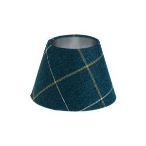 Winsford Navy Blue Tartan Empire Lampshade Brushed Silver Inner