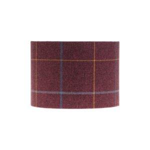 Winsford Plum Tartan Drum Lampshade