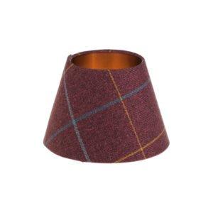 Winsford Plum Tartan Empire Lampshade Brushed Copper Inner