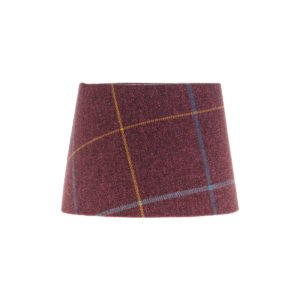Winsford Plum Tartan French Drum Lampshade