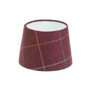 Winsford Plum Tartan French Drum Lampshade
