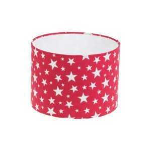 Red Stars Drum Lampshade