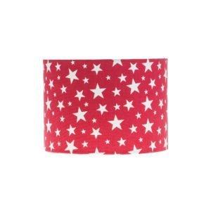 Red Stars Drum Lampshade